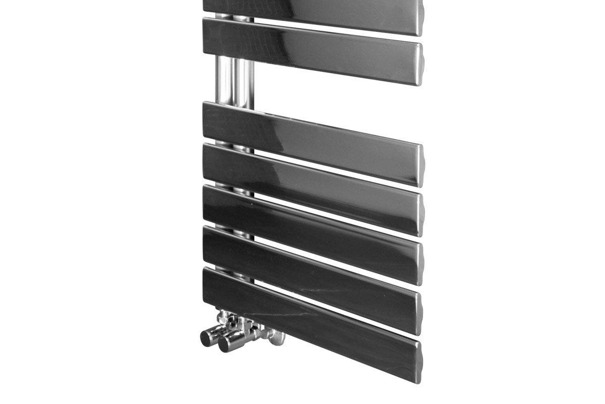 Chrome Bathroom Towel Radiators: Heated Towel Rail Bathroom Radiator Designer Flat Panel