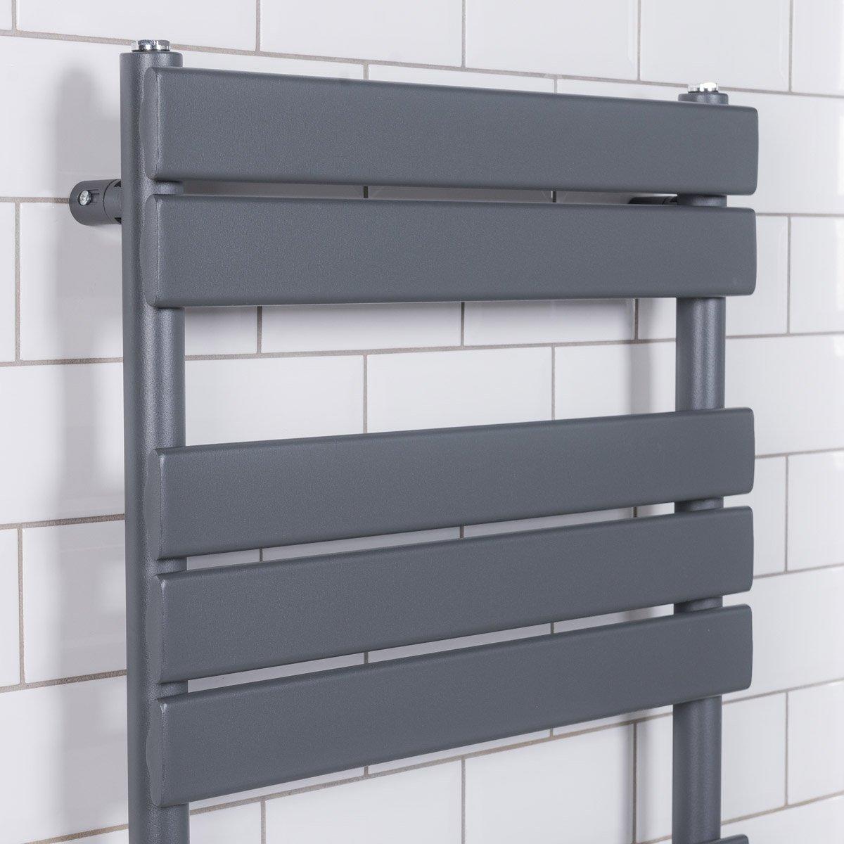 Designer-Flat-Panel-Heated-Bathroom-Towel-Rail-Radiator-Chrome-White-Grey