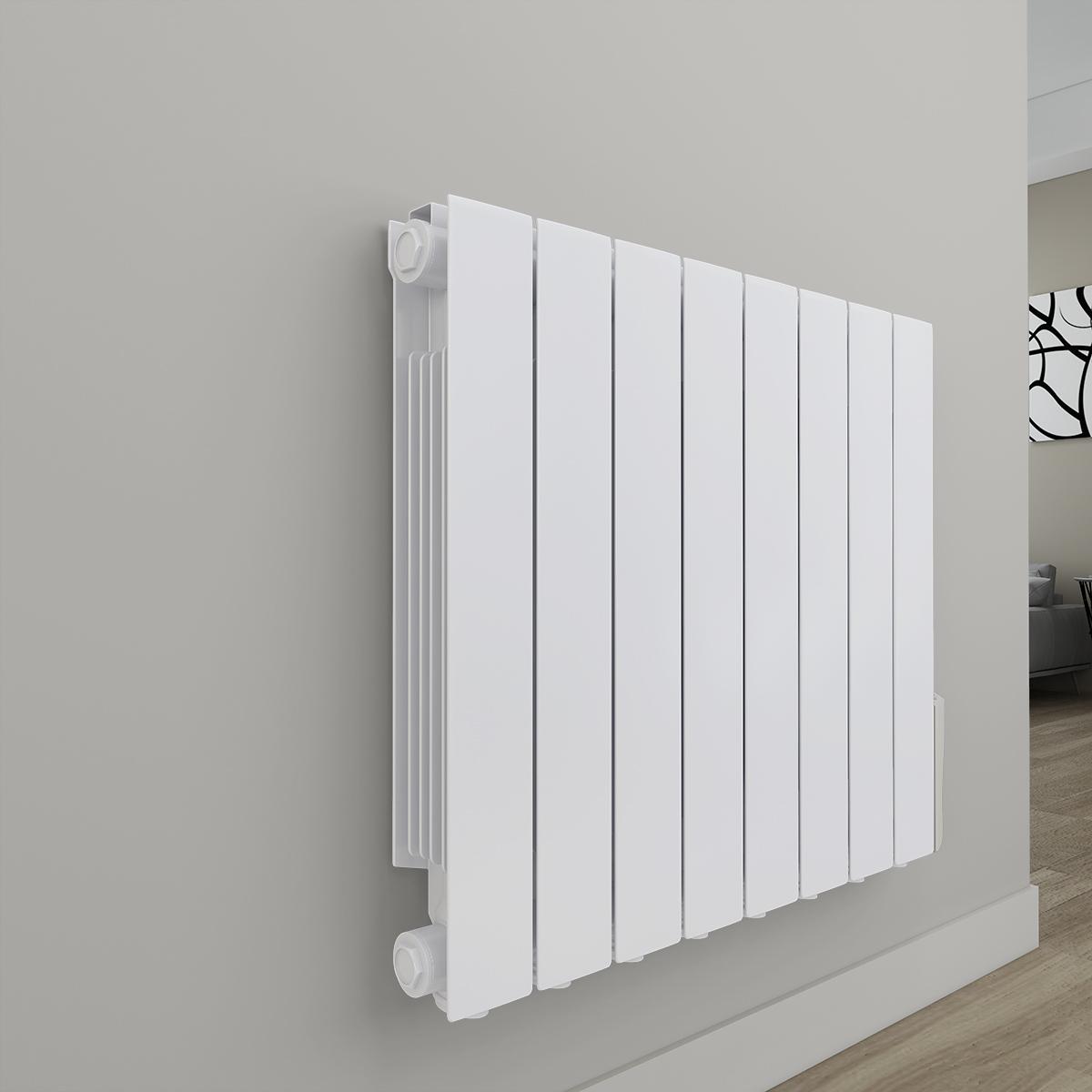 Bismo termosifone elettrico ad olio 577 x 699mm 1200w da for Termosifone elettrico a parete