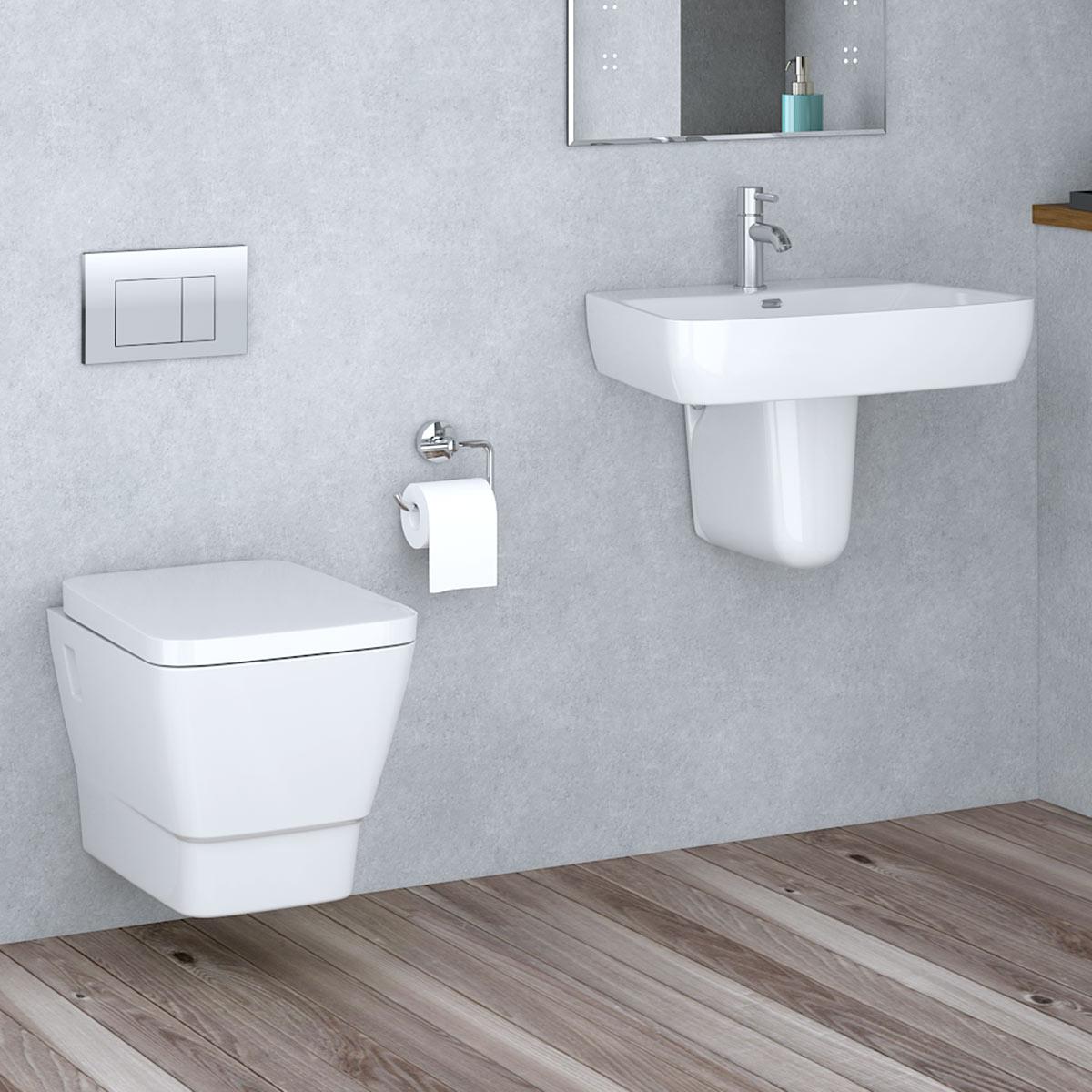 Basin Cloakroom Suite Toilet Frame