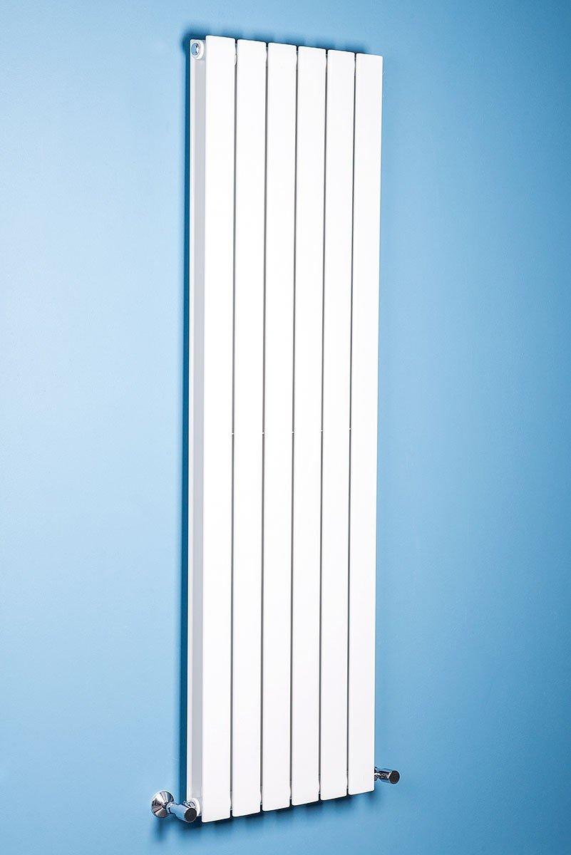 vertical white radiator