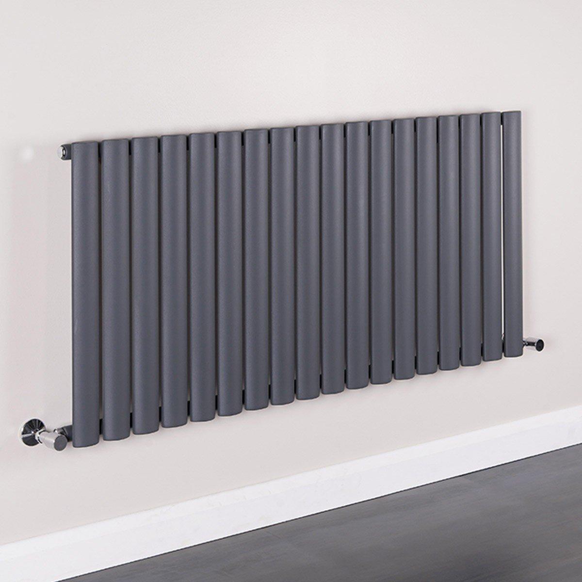 modern matte grey horizontal radiator