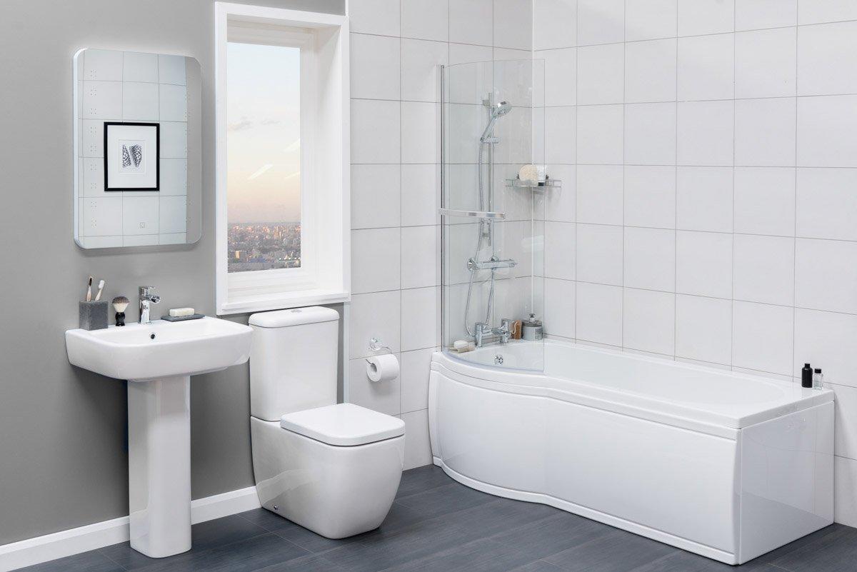 Contemporary P Shaped Bath