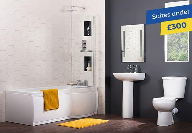 Bathroom suites under £300